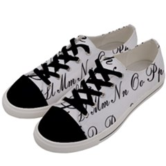 Alphabet Embassy Font Men s Low Top Canvas Sneakers by Mariart
