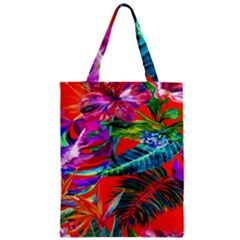 Aloha Hawaiian Flower Floral Sexy Summer Orange Zipper Classic Tote Bag by Mariart