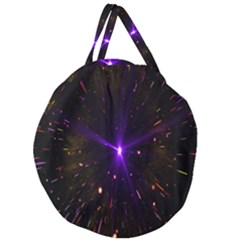 Animation Plasma Ball Going Hot Explode Bigbang Supernova Stars Shining Light Space Universe Zooming Giant Round Zipper Tote
