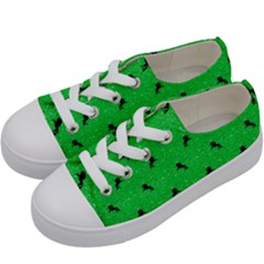Unicorn Pattern Green Kids  Low Top Canvas Sneakers by MoreColorsinLife