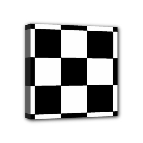 Grid Domino Bank And Black Mini Canvas 4  X 4