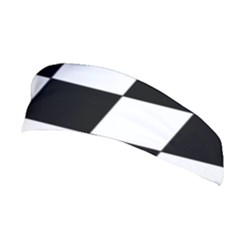 Grid Domino Bank And Black Stretchable Headband