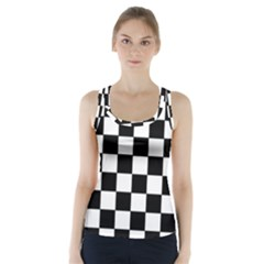 Grid Domino Bank And Black Racer Back Sports Top