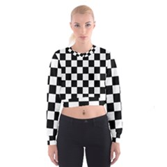Grid Domino Bank And Black Cropped Sweatshirt
