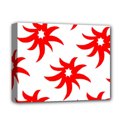 Star Figure Form Pattern Structure Deluxe Canvas 14  X 11  by Nexatart