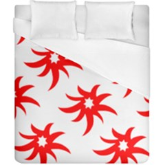 Star Figure Form Pattern Structure Duvet Cover (california King Size)