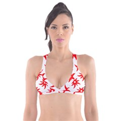 Star Figure Form Pattern Structure Plunge Bikini Top