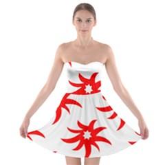 Star Figure Form Pattern Structure Strapless Bra Top Dress
