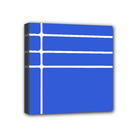 Stripes Pattern Template Texture Blue Mini Canvas 4  X 4