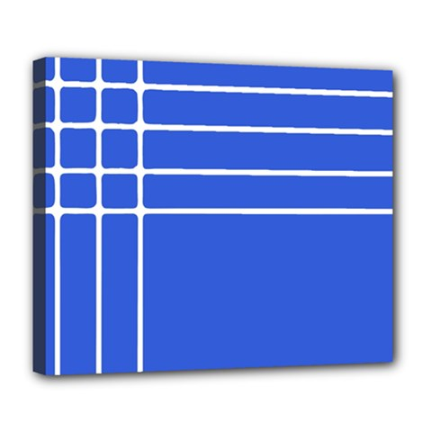 Stripes Pattern Template Texture Blue Deluxe Canvas 24  X 20   by Nexatart