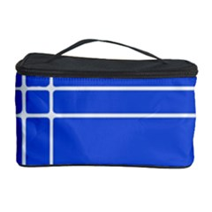 Stripes Pattern Template Texture Blue Cosmetic Storage Case
