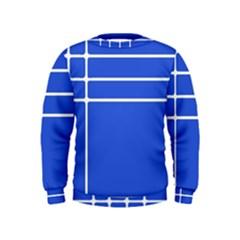 Stripes Pattern Template Texture Blue Kids  Sweatshirt