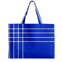 Stripes Pattern Template Texture Blue Zipper Mini Tote Bag by Nexatart