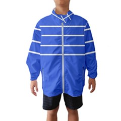 Stripes Pattern Template Texture Blue Wind Breaker (kids)