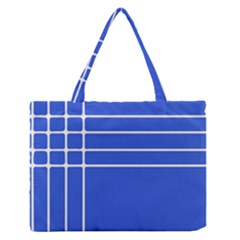 Stripes Pattern Template Texture Blue Zipper Medium Tote Bag