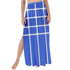Stripes Pattern Template Texture Blue Maxi Chiffon Tie Up Sarong