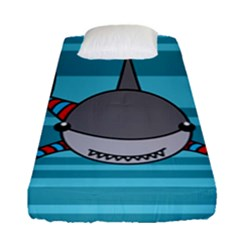 Shark Sea Fish Animal Ocean Fitted Sheet (single Size) by Nexatart