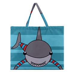 Shark Sea Fish Animal Ocean Zipper Large Tote Bag