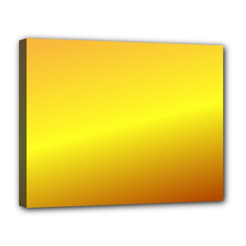 Gradient Orange Heat Canvas 14  X 11  by Nexatart