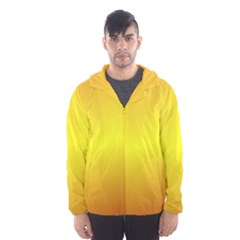 Gradient Orange Heat Hooded Wind Breaker (men)