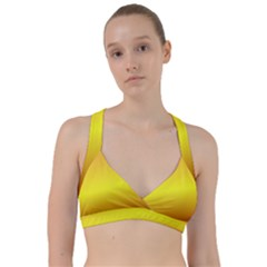 Gradient Orange Heat Sweetheart Sports Bra