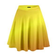 Gradient Orange Heat High Waist Skirt