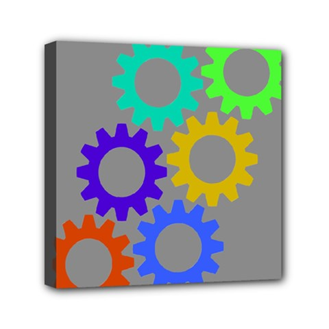 Gear Transmission Options Settings Mini Canvas 6  X 6  by Nexatart