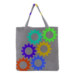 Gear Transmission Options Settings Grocery Tote Bag