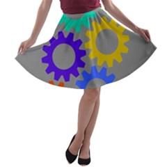 Gear Transmission Options Settings A Line Skater Skirt