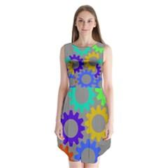Gear Transmission Options Settings Sleeveless Chiffon Dress