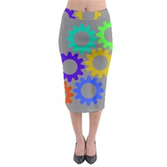 Gear Transmission Options Settings Midi Pencil Skirt