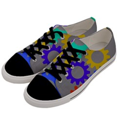 Gear Transmission Options Settings Men s Low Top Canvas Sneakers by Nexatart