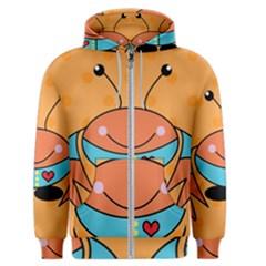 Crab Sea Ocean Animal Design Men s Zipper Hoodie
