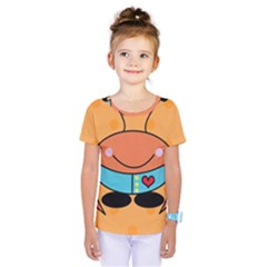 Crab Sea Ocean Animal Design Kids  One Piece Tee