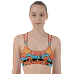 Crab Sea Ocean Animal Design Line Them Up Sports Bra