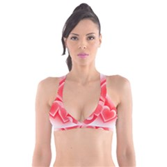 Heart Love Romantic Art Abstract Plunge Bikini Top