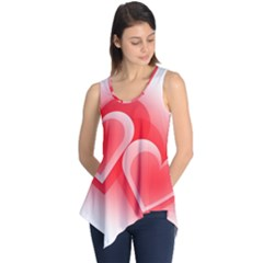 Heart Love Romantic Art Abstract Sleeveless Tunic