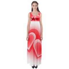 Heart Love Romantic Art Abstract Empire Waist Maxi Dress