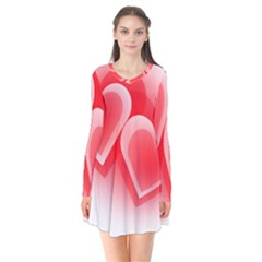 Heart Love Romantic Art Abstract Flare Dress