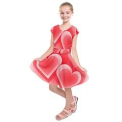 Heart Love Romantic Art Abstract Kids  Short Sleeve Dress