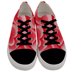 Heart Love Romantic Art Abstract Men s Low Top Canvas Sneakers