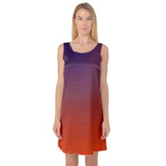Course Colorful Pattern Abstract Sleeveless Satin Nightdress