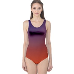 Course Colorful Pattern Abstract One Piece Swimsuit