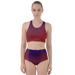 Course Colorful Pattern Abstract Racer Back Bikini Set