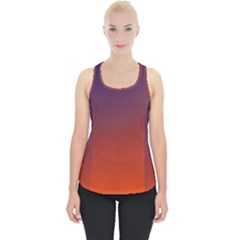 Course Colorful Pattern Abstract Piece Up Tank Top
