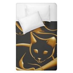 Gold Dog Cat Animal Jewel Dor¨| Duvet Cover Double Side (single Size)