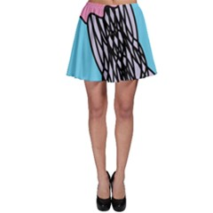 Jellyfish Cute Illustration Cartoon Skater Skirt