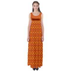 Pattern Creative Background Empire Waist Maxi Dress