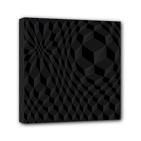 Pattern Dark Black Texture Background Mini Canvas 6  X 6  by Nexatart