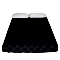 Pattern Dark Black Texture Background Fitted Sheet (california King Size)